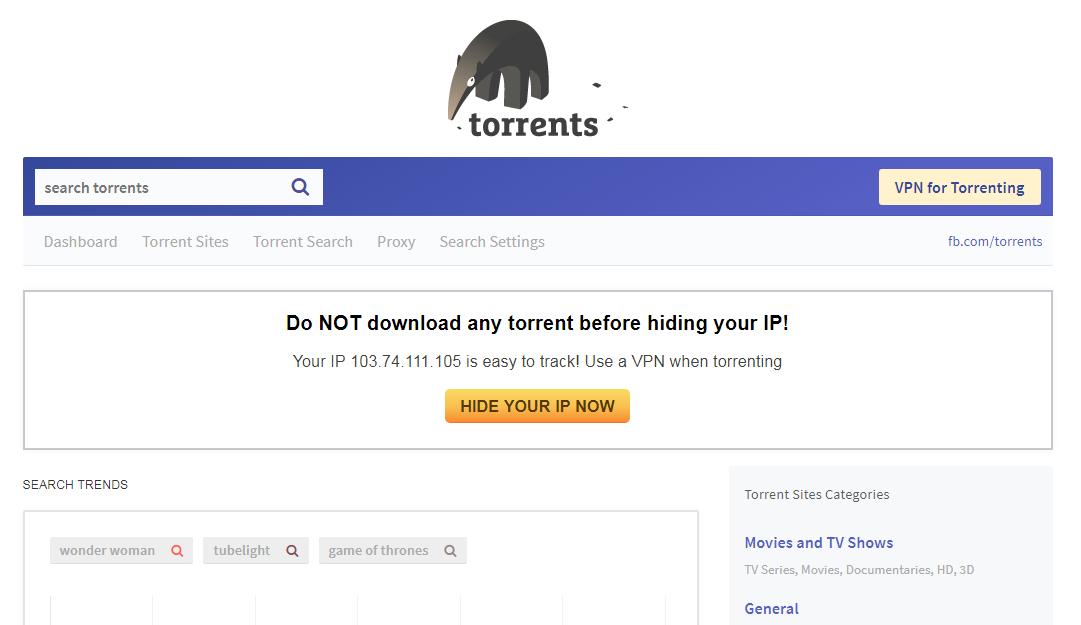 TorrentsDownloads Snap