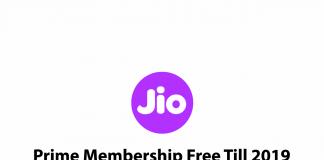 Jio Prime Membership Free Till 2019