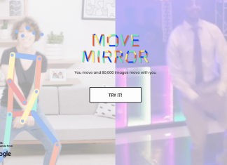 Create Pose Estimation by Google Move Mirror Experiment