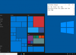 Microsoft Updates the Notepad App in Windows Redstone 5