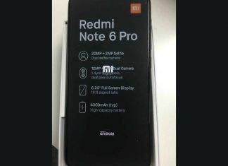 Redmi Note 6 Pro Image Leak