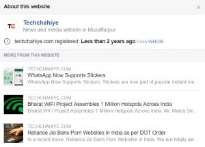 Facebook shows link info 2