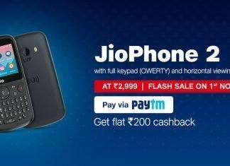 Jio Phone 2 Flash Sale November 1 at 12 PM