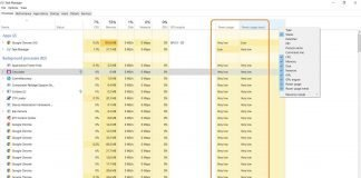 Windows 10 Task Manager Now shows Apps power usage