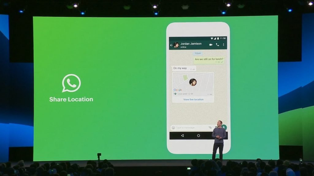 Mark Discuss About WhatsApp Location Feature at F8 2019