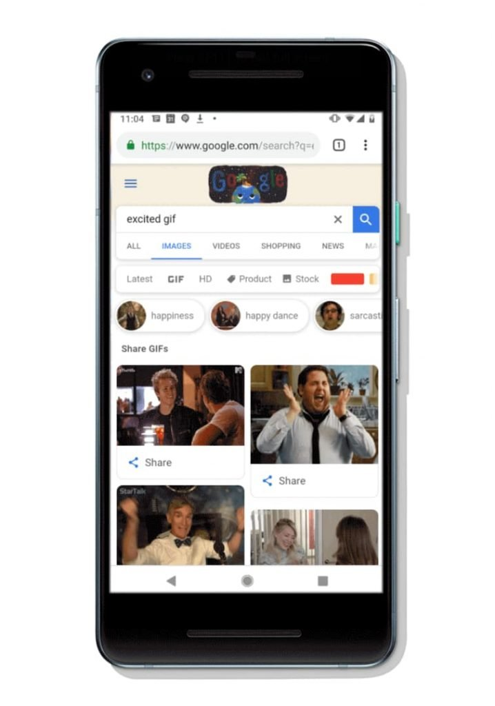 Share GIFs directly from Google Images