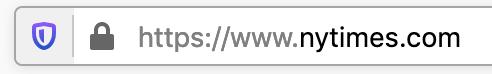 New Shield Icon in Firebox Browser Address Bar