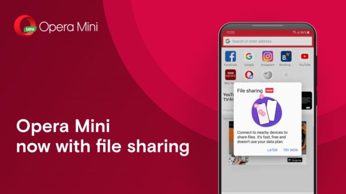 Opera Mini Launches Offline File Sharing Feature